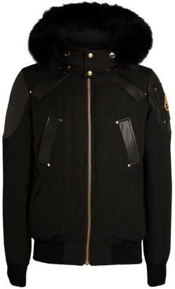 Moose Knuckles Gold Collection Capsule Fox Fur-Trimmed Bomber Jacket