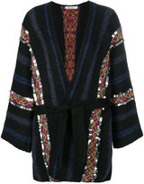 Mes Demoiselles belted striped cardigan
