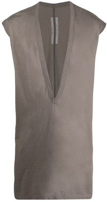 Rick Owens deep V-neck sleeveless tank top