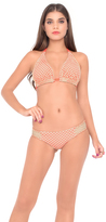 Luli Fama Starfish Wishes D/DD Cup Triangle Halter In Gold Fire Coral (L475073)