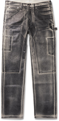 Helmut Lang Masc Lo Utility Slim-Fit Coated-Denim Jeans