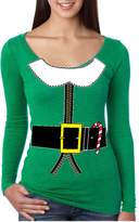 Allntrends Women's Shirt Elf Suit Santa's Elves Christmas Gift Xmas Top (XL, )