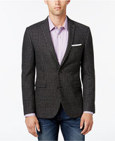 Bar III Men's Slim-Fit Gray Black Gingham Sport Coat, Only at Macy's