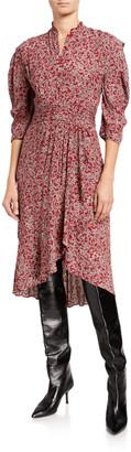 BA&SH Chelsea Printed 3/4-Sleeve Dress