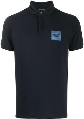Emporio Armani Stitched Logo Polo Shirt