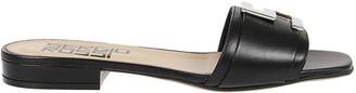 Sergio Rossi Logo Plaque Open-Toe Sandals