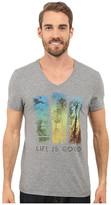 Life is Good Stripes Palm Trees Newbury Vee