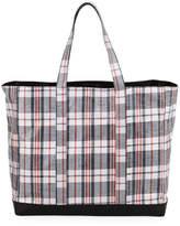 Helmut Lang Woven Plaid Shopping Bag
