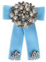 Dolce & Gabbana Crystal-embellished Silk-satin Brooch