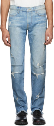 424 Blue 4 Pocket Distressed Jeans