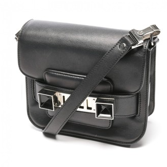 Proenza Schouler PS11 Black Leather Clutch bags