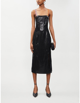Olivia Rubin Greta bodycon sequinned midi dress