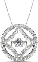 JCPenney FINE JEWELRY Love in Motion 1/4 CT. T.W. Diamond 10K White Gold Pendant Necklace