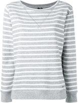 Woolrich striped sweatshirt - women - Cotton - M