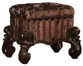 Trosky Tufted Fabric Upholstered Wooden Vanity Stool Astoria Grand