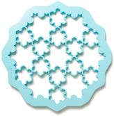 Lékué Snowflake Puzzle Cookie Cutter in Blue