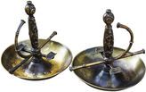 One Kings Lane Vintage French Brass Fencing Grips Ashtrays, S/2