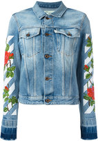 Off-White roses embroidery denim jacket - women - Cotton - M