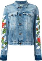 Off-White roses embroidery denim jacket - women - Cotton - XS