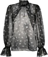 Dolce & Gabbana chiffon polka dot blouse