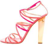 Jimmy Choo Multistrap Neon Sandals
