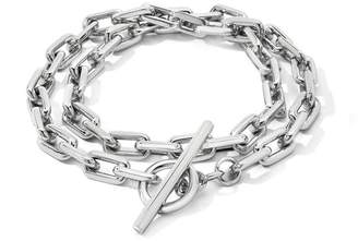 Walters Faith Saxon Sterling Silver Double Wrap Chain Link Toggle Bracelet