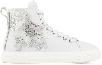 Giuseppe Zanotti Crystal-Embellished High-Top Sneakers
