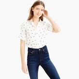 J.Crew Tall perfect shirt in onyx dot
