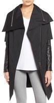Rudsak Asymmetrical Mixed Media Long Coat