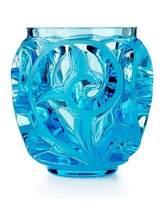 Lalique TOURBILLIONS MINI VASE BLUE