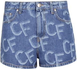 Chiara Ferragni Monogram Denim Shorts