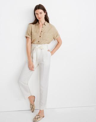 Madewell Linen-Blend Paperbag Pants