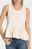 Free People Continental Peplum Tank