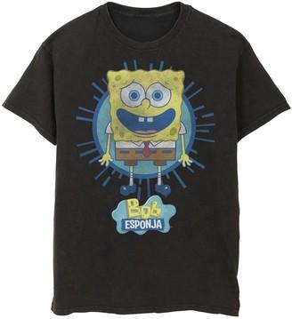 Nickelodeon Men's SpongeBob SquarePants Rays Spanish Tee