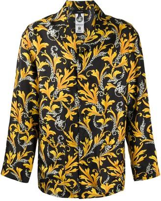 Versace Baroque print pyjama shirt