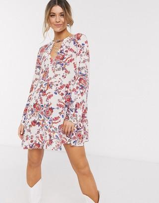 En Creme mini dress in floral print