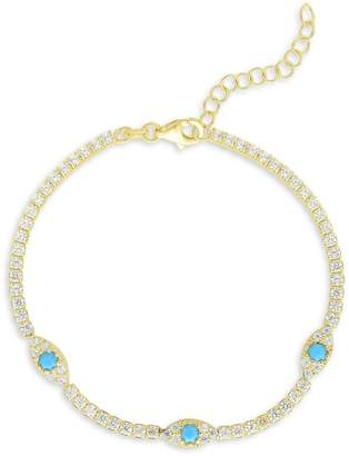 Chloé & Madison Crystal Tennis Bracelet