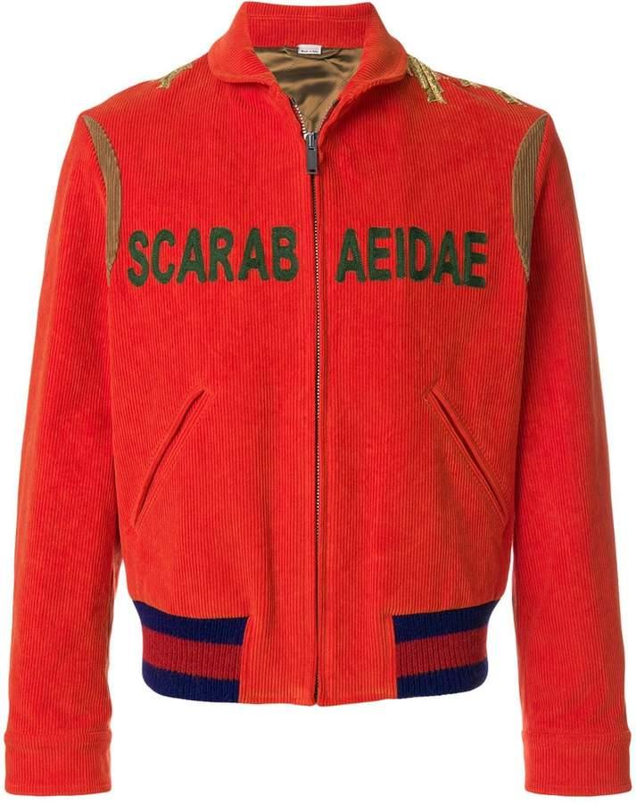 Gucci appliquéd bomber jacket