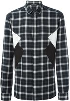 Neil Barrett checked patch detail shirt - men - Cotton - 39