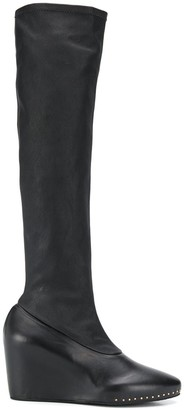 Jil Sander Stretch wedge boots