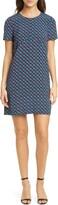 Diane von Furstenberg Carlotta Geo Print Short Sleeve Shift Dress