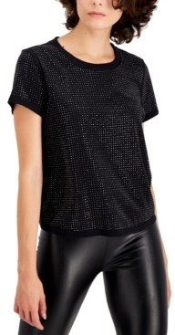 INC International Concepts Inc Studded Tee, Created for Macy's