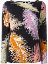 Emilio Pucci feathers print blouse