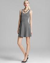 Aqua Skater Dress - Mini Jacquard