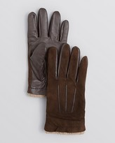 Bloomingdale's The Men's Store at Suede and Leather Palm Tech Gloves Exclusive