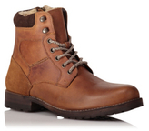 George Leather Borg Lined Boots