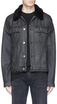 Helmut Lang 'Mr 87' faux shearling denim jacket