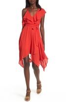 Dee Elly Women's Asymmetrical Ruffle Dress