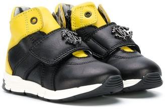 Roberto Cavalli Junior Logo Strap Hi-Top Sneakers