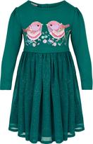 Monsoon Baby Elsie May Teal Dress